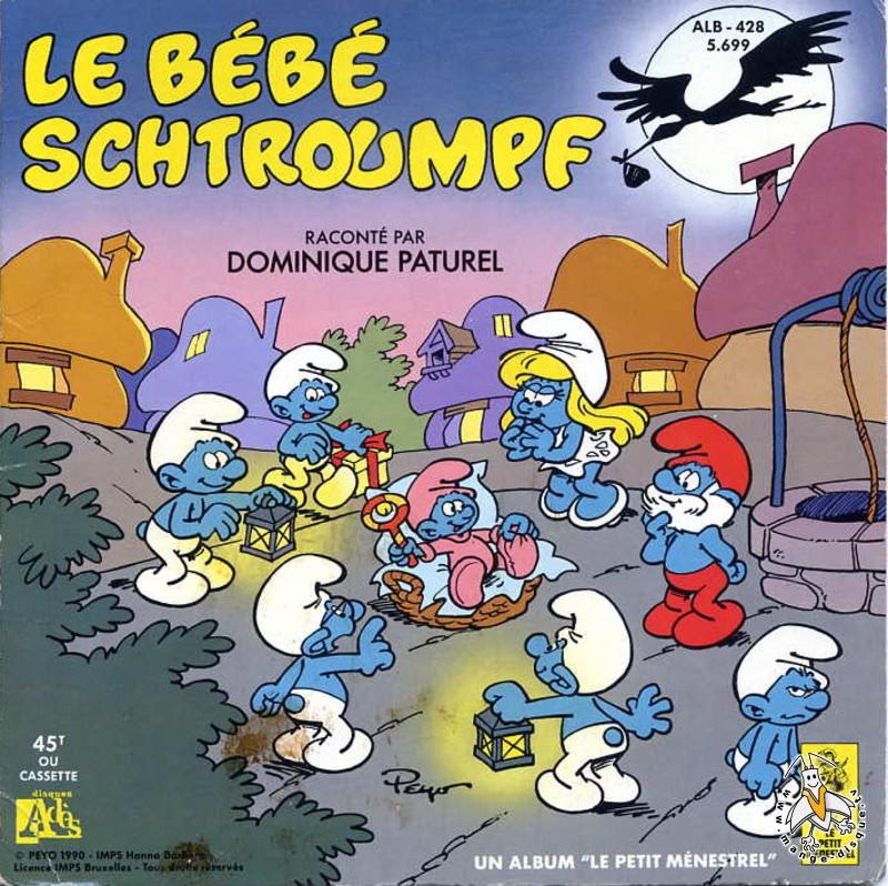 Disque s ries tv et dessins anim s le b b schtroumpf - Schtroumpf bebe ...