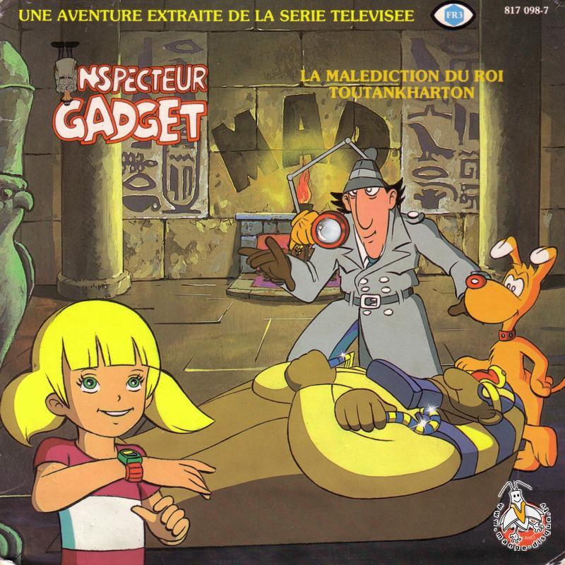 Disque s ries tv et dessins anim s inspecteur gadget la mal diction du roi toutankharton - Inspecteur gadget dessin anime ...