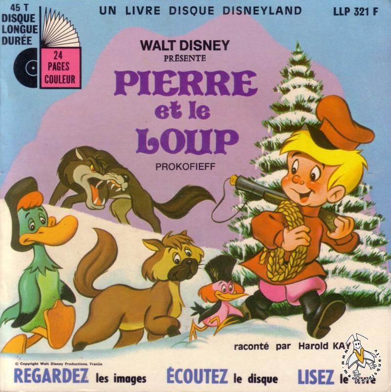 Disque s ries tv et dessins anim s walt disney pr sente pierre et le loup - Coloriage pierre et le loup ...