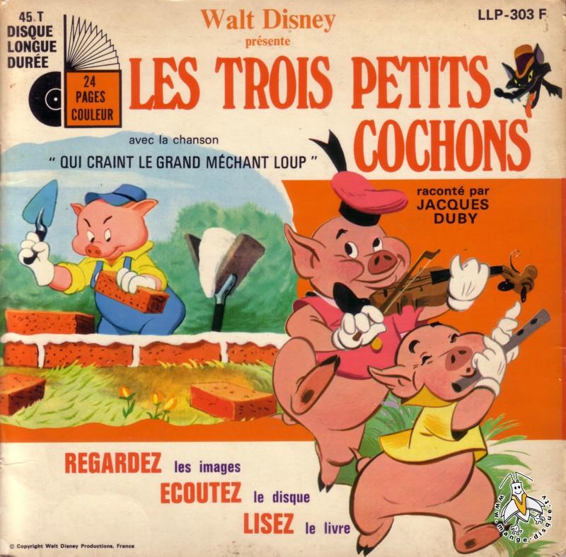 Disque s ries tv et dessins anim s walt disney pr sente les trois petits cochons - Dessin anime les 3 petit cochons ...