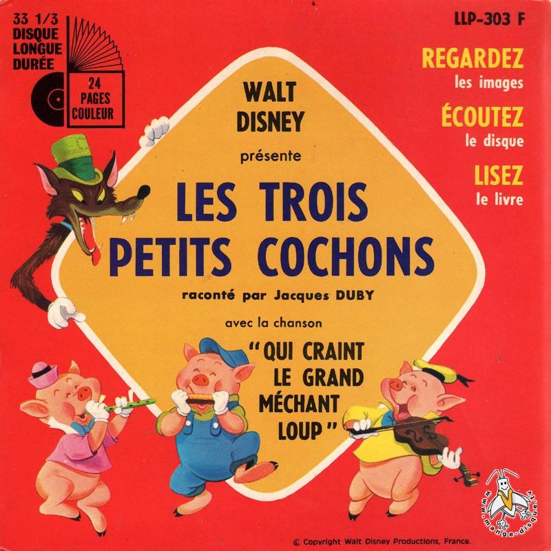 Disque s ries tv et dessins anim s walt disney pr sente les trois petits cochons variante 1 - Dessin anime les 3 petit cochons ...
