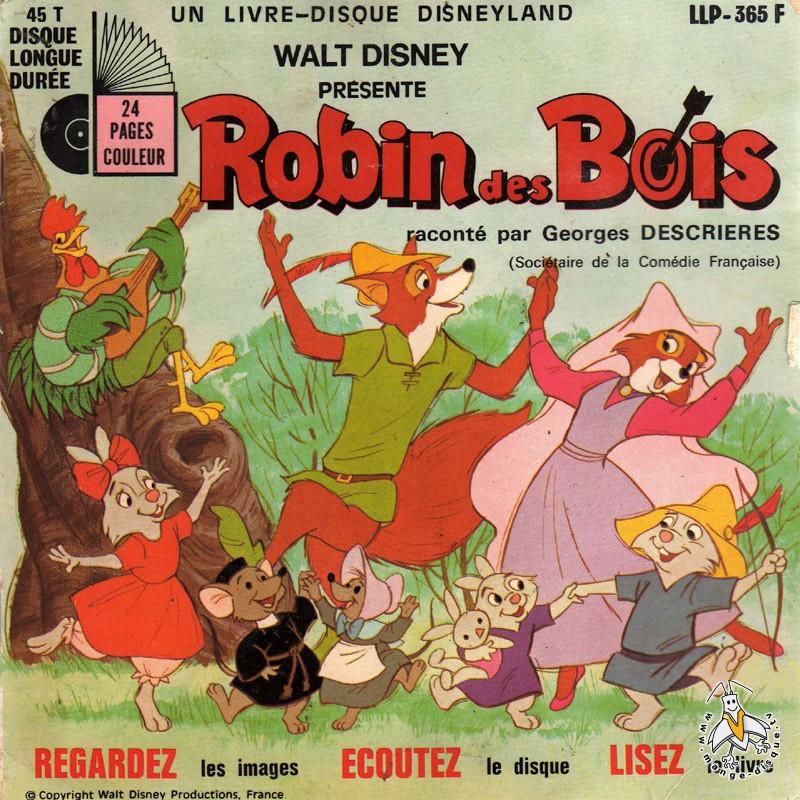 Disque Séries TV et Dessins Animés Walt Disney présente  ~ Walt Disney Robin Des Bois