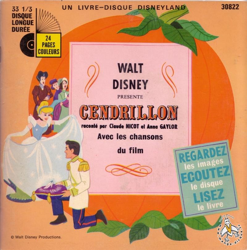 Disque s ries tv et dessins anim s walt disney pr sente cendrillon racont par claude nicot et - Cendrillon dessin anime walt disney ...