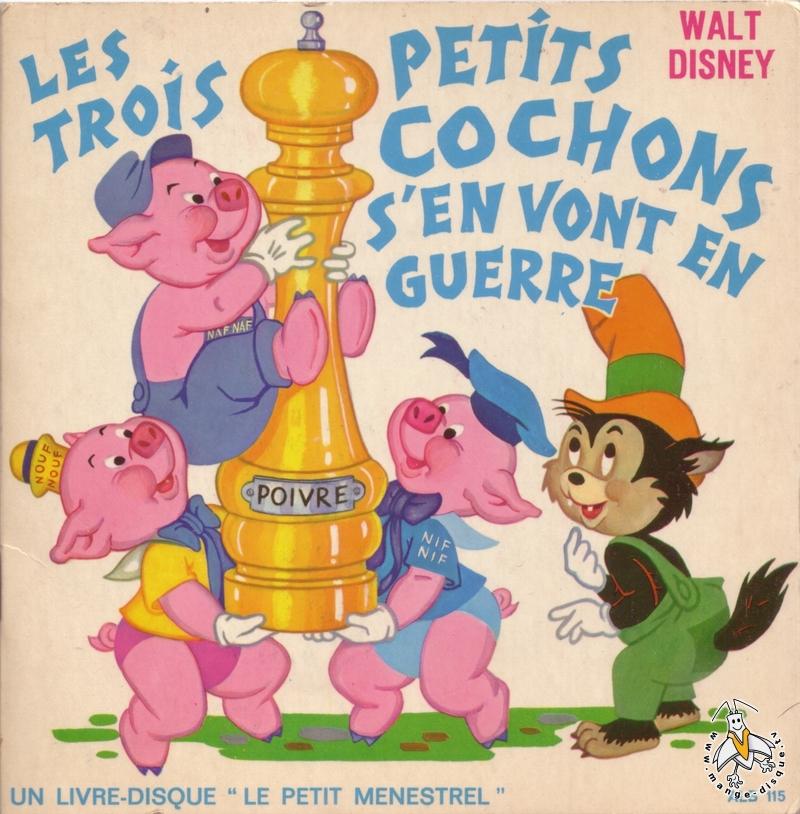 Disque s ries tv et dessins anim s walt disney les trois petits cochons s 39 en vont en guerre - Dessin anime les 3 petit cochons ...