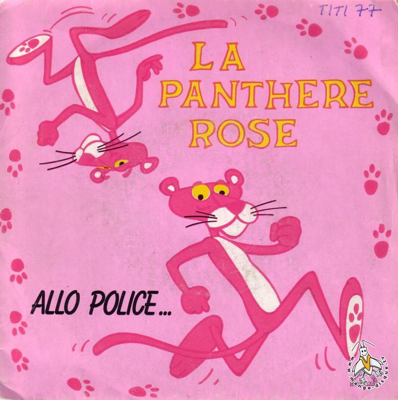 Disque s ries tv et dessins anim s la panth re rose allo police - Panthere rose dessin anime ...