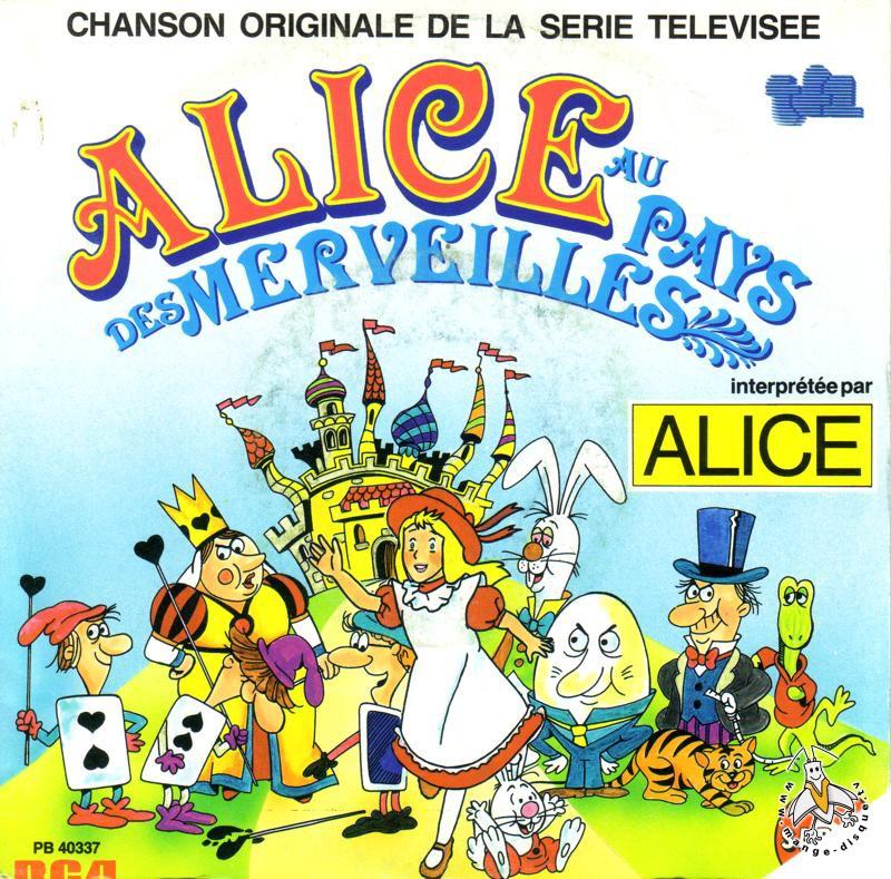 Extraordinaire Alice Au Pays Des Merveilles Dessin Animé disque séries tv et dessins animés chanson originale de la série