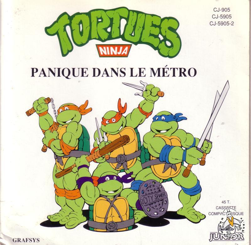 Disque s ries tv et dessins anim s tortues ninja panique dans le m tro - Dessin anime tortues ninja ...