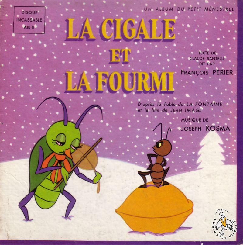 Disque s ries tv et dessins anim s la cigale et la fourmi - Coloriage la cigale et la fourmi ...